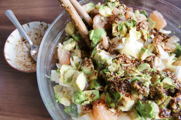 【食譜】菊苣葡萄柚酪梨沙拉
