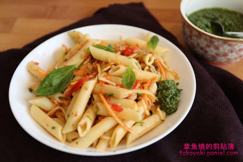 【食譜】香蒜脆蔬筆管麵沙拉 Salade de pâtes aux légumes croquants