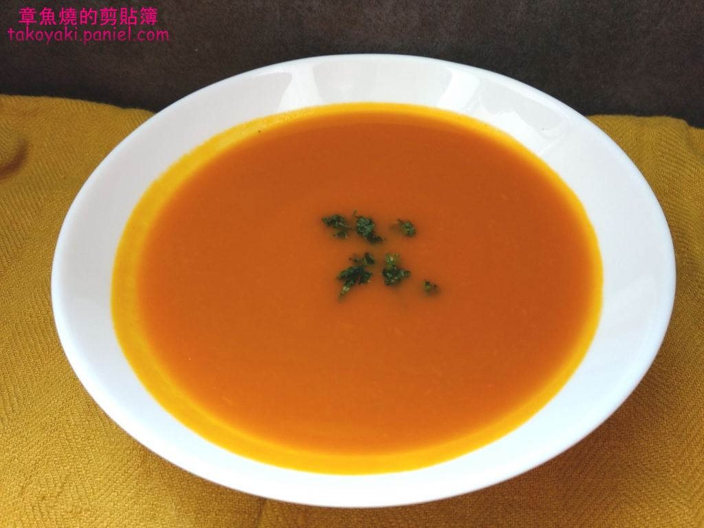 【食譜】蘋果南瓜湯 Soupe à la courge musquée et à la pomme verte