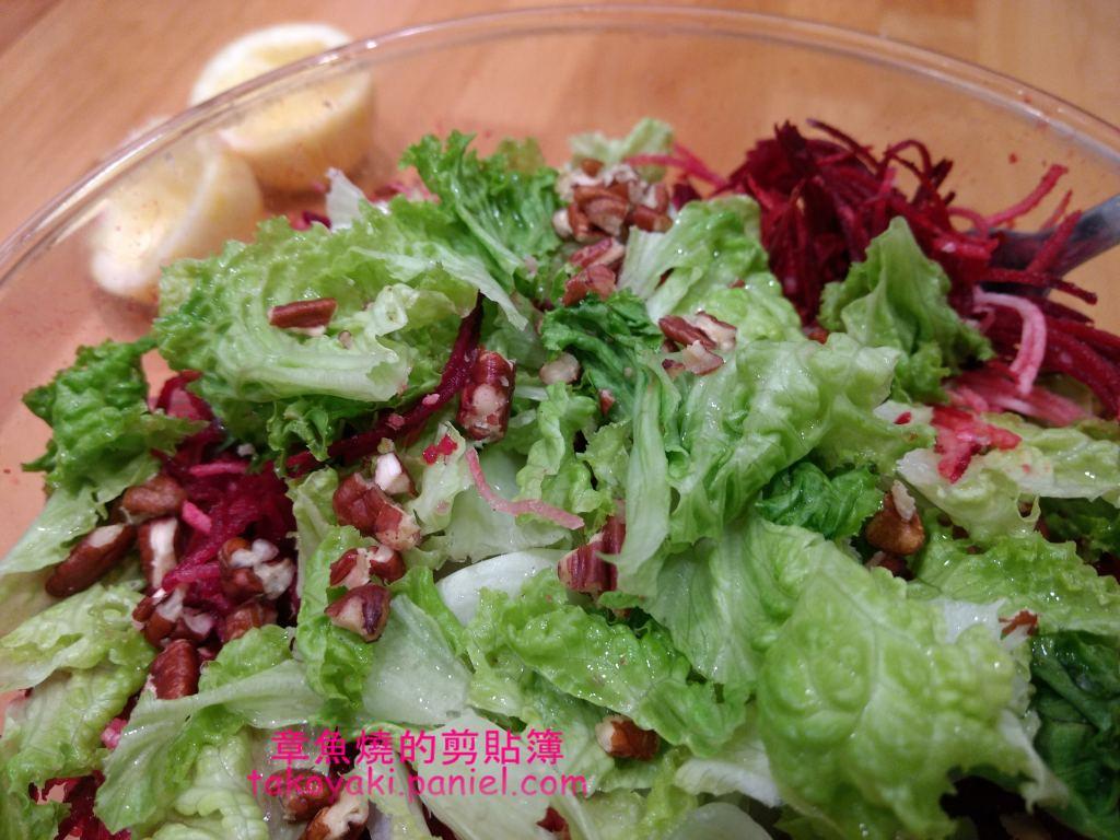 【食譜】菊芋甜菜根核桃醋沙拉 Salade de topinambours aux noix