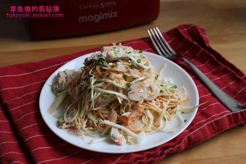 【食譜】雞肉高麗菜沙拉佐中式美乃滋