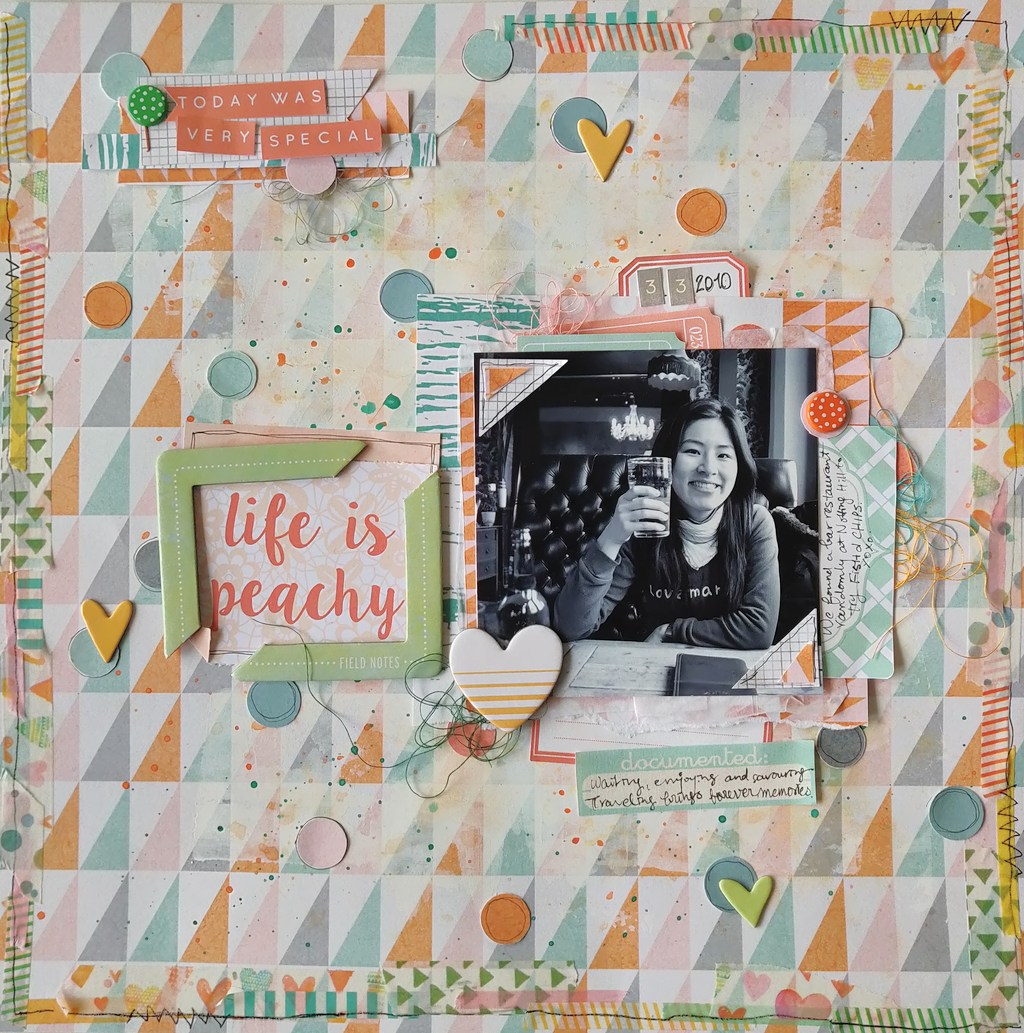 【12×12】MHC 顏色挑戰 Life is peachy